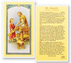 Daily Prayer To St. Joseph Laminated Prayer Cards 25 Pack [HPR635]