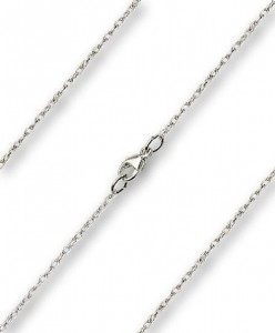 Dainty Rope Chain w. Clasp Multiple Lengths Metals [BLCH0004]