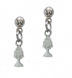 Dangle Chalice First Communion Earrings [MVER1009]
