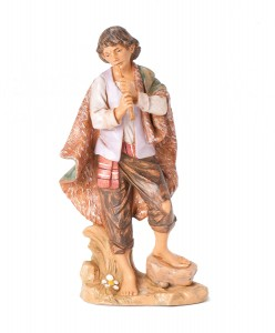 "Daniel with Flute Nativity Statue - 12"" scale [RMCH029]"