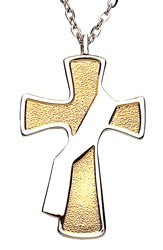 Deacon's Cross with Silver Colored Sash Pendant [TCG0422]