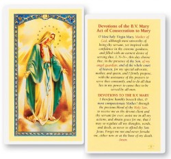 Devotions of The Blessed Virgin Mary Laminated Prayer Cards 25 Pack [HPR200]