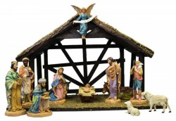 DiGiovanni Nativity Set with Wood Stable - 6 [GFCHR1035]