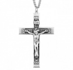 Diamond Cross Accent Men's Crucifix Necklace [HMM3302]