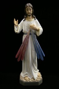 Divine Mercy Statue Hand Painted - 19.25 inch [VIC3129]