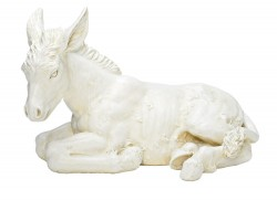 "White Stable Donkey 13"" H for 27"" Scale Nativity Set [RM0028]"