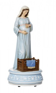 Expectant Mary Musical Figurine 10.25 Inch High [CBST018]