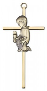 First Communion Boy Cross  6 inch [CRB0031]
