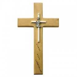 First Communion Boy's Maple Wood Cross - 10 inch [SNCR0038]