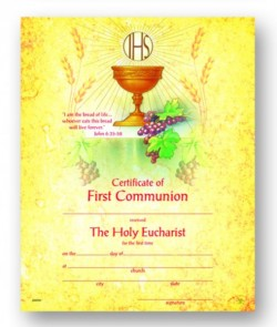 First Communion Certificate with Golden Chalice [HRC20090]
