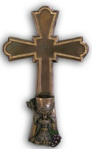 First Communion Cross, Bronzed Resin - 7 1/4 inch [GSS063]