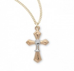 First Communion Cross Pendant with Chalice Centerpiece [REC0007]