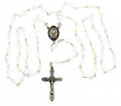 First Communion Crystal Rosary with Chalice Centerpiece [MVCR002]