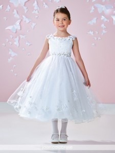 first communion dress flowers lined sleeves jcc7362