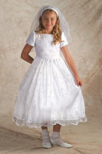First Communion Dress Irish - Bridal Satin [FCD0003]