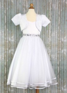 First Communion Dress with Fashion Bolero [LCD998]