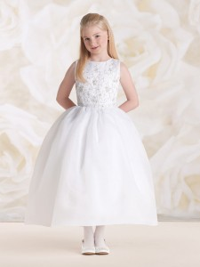 0d143cbfa6d First Communion Dress with Hand Beaded Bodice