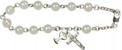 First Communion Faux Pearl Rosary Bracelet [RB2001]