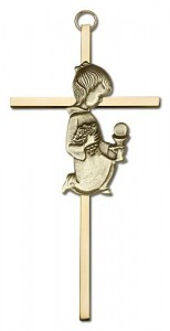 First Communion Girl Cross  6 inch [CRB0032]