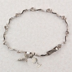 "First Communion Heart Bracelet with Chalice Charm - 6 1/2""L [MVC0005]"