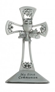 First Communion Pewter Standing Cross [MV0007]