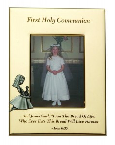 First Communion Photo Frame - Girl [SNC1001]