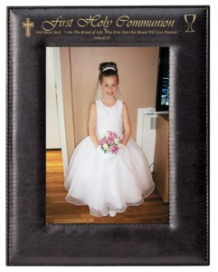 First Communion Photo Frame Personalized Vertical [SN2003]