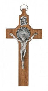 First Communion Walnut Crucifix Cross [CRX3972]