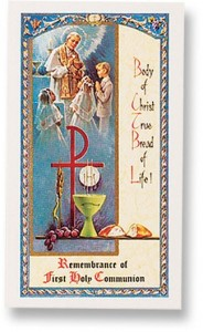 First Holy Communion Unisex Laminated Prayer Cards 25 Pack [HPR698]