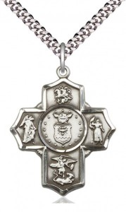 Five Way Cross Air Force Necklace [BM1016]