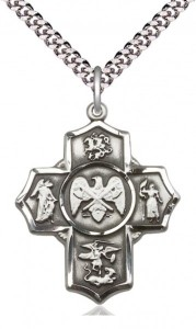 Five Way Cross US National Guard Necklace [BM1018]