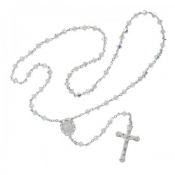 Fluted Crystal Swarovski Bead Rosary [MVRB1087]