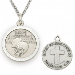 Football Sports Medal 3/4 inch with Chain [SM0007]