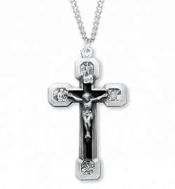 Four Evangelist Men's Crucifix Necklace [HMM3299]