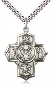 Five Way Cross Army Necklace [BM1013]
