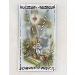 Four Way Pewter Pendant with Confirmation Prayer Card [PCMV006]