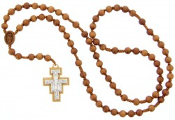 Franciscan Crown 7 Decade Wood Rosary - 10mm [RB3922]