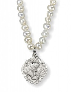 Freshwater Pearl First Communion Necklace [HMM3372]