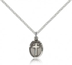 Petite Friend In Jesus Cross Pendant [BM0916]