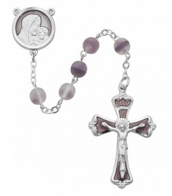 Frosted Lavender Bead Rosary [MVRB1104]