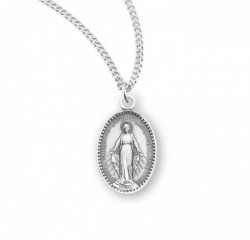 Girl's Beaded Border Petite Miraculous Medal [HMM3230]