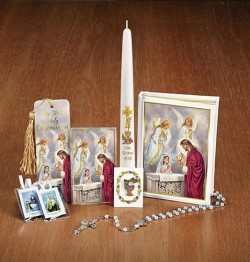 Girls First Communion Deluxe Gift Set with Candle [MIL8782]