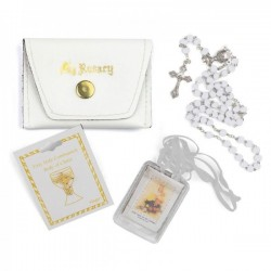 Girl's First Communion Gift Set Rosary [SNC0056]