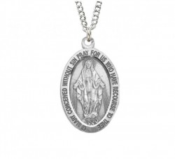 Girl's Youth Oval Miraculous Pendant [HM0735]