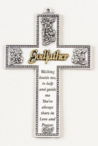 Godfather Silver Wall Cross - 5 inch [JC9310]