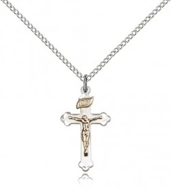 Women's Gold Filled and Sterling Crucifix Pendant [BC0059]