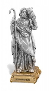 Good Shepherd Pewter Statue 4 Inch [HRST136]