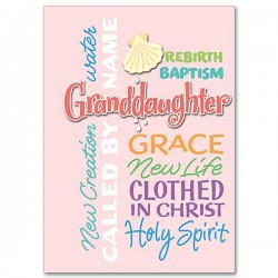 Granddaughter Baptism Greeting Card [PRH004]