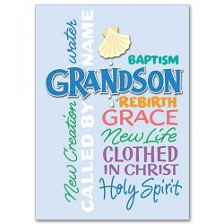 Baptism greeting cards catholic faith store view all grandson baptismal greeting card prh003 m4hsunfo
