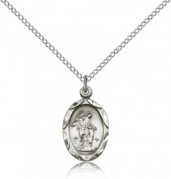Guardian Angel Oval Pendant [CM2279]